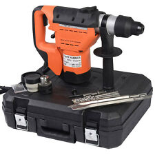 "Variable Speed 1-1/2"" SDS Electric Rotary Hammer Drill + Demolition Bits Kit New"