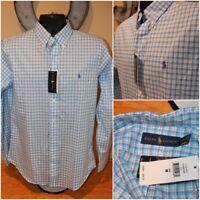 NWT $89 Ralph Lauren Long Sleeve Button Down Shirt Blue/Purple : Size Medium M