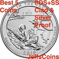2019 PDSSS War In The Pacific Guam Park Quarter Clad &.99 Silver Proof P D S S S
