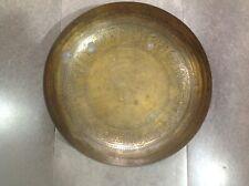 New listing Old Vintage Large Brass Bowl Signed Sarna India M259-3 Egyptian Art Design~Egypt