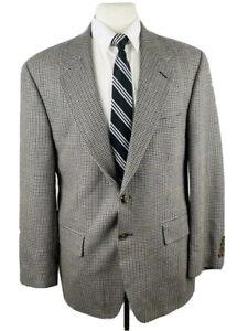 Vintage Chaps Ralph Lauren Mens 40S Gray Blazer Sport Coat Suit Jacket