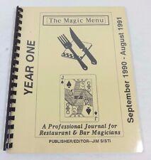 The Magic Menu Professional Journal for Restaurant & Bar Magicians JIM SISTI