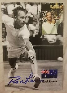 Rod Laver Signed Picture