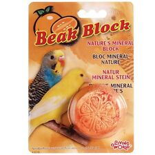 Living World Mineral Block Orange for Parakeets 1oz