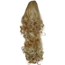 "22 "" Queue De Cheval Pince en EXTENSIONS DE CHEVEUX BOUCLES tombantes fraise"