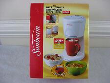 Sunbeam Hot Shot Hot Water Dispenser & Red Ceramic Bowl-White #6142~New