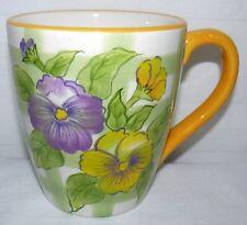 FTD INC. 16 OZ FLOWER LATTICE HAND PAINTED CERAMIC COFFEE MUG