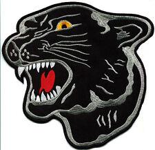 Black Panther Cat Puma Jaguar Animal Head Applique Iron-On Patch Free Shipping