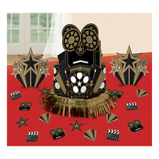 4 Piece Hollywood Party Table Decorating Kit Black & Gold Party Centrepieces