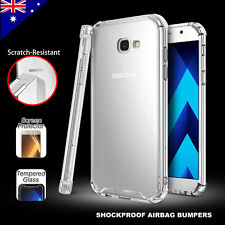 For Samsung Galaxy A5 A7 2017 Shockproof Bumper Slim Case Cover Crystal Clear