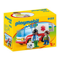 Playmobil 123 Rescue Ambulance Building Set 9122 NEW IN STOCK