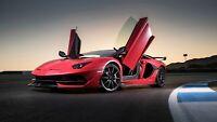 "Lamborghini Aventador SVJ 2019 Red Car Auto Art Silk Wall Poster Print 24x36"""