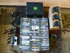 Used Original Xbox console with 4 controllers and 131 original Xbox games