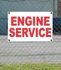 2x3 ENGINE SERVICE Red & White Banner Sign NEW Discount Size & Price FREE SHIP
