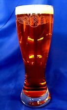 US Coast Guard custom etched Rescue Swimmer Wings on 23oz pilsner set of 4