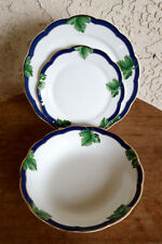 3pcs - Fitz & Floyd Fine Bone China Garden Gate Bowl - Bread Plate & Salad Plate