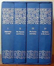 Great Stories of Crime and Detection 4 Volume Set Folio Society