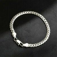 Fashion 925 Silver Jewelry 5MM Snake Chain Bracelet Bangle For Women Men Gifts