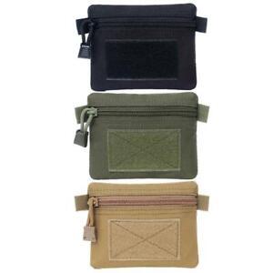Outdoor EDC Molle Pouch Wallet Waterproof Portable Travel Zipper Waist Bag UK
