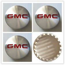 "4,GMC Brushed Aluminum wheel Center Caps 22837060 83mm 3.25"" Sierra Yukon Denali"