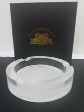 "Arturo Fuente Large 8"" Cigar Ashtray Etched Glass Very Rare + Gold Foil Box"
