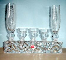 Baccarat Forest of Dreams Crystal Vase & Candle Holders 6 PC. Marcel Wanders New