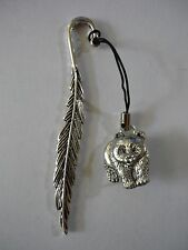 Panda codea40 Made From Fine English Pewter On A FEATHER Bookmark