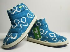 """NWT SANUK Size 5 Women's """"Puff n Chill"""" Blue Slip On Ankle Boots Shoes New"""
