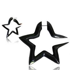 PAIR FAKE 16G STAR BUFFALO HORN EXPANDER 4G CHEATER SPIRAL PLUGS GAUGE