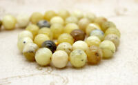 Opal, Yellow Opal Smooth Round Sphere Ball Natural Gemstone Beads Loose Bead