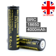 2 X PCB Protected BRC 18650 Rechargeable Li-ion Battery 4000mah 3.7v Lithium L4u