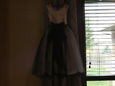 Black and white flower girl dress size 4 - good condition