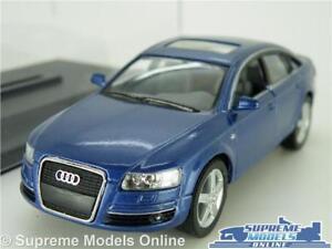 AUDI A6 MODEL CAR SALOON 1:38 SCALE BLUE + DISPLAY CASE KINSMART K8