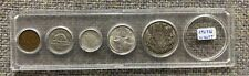 1942 Canada Coin Complete Set in Plastic Holder