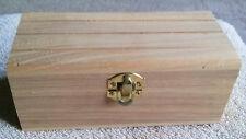 3 x 3 x 6 5/8 Unfinished Hinged & Latch Wood Box    B5