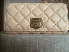MICHAEL MICHAEL KORS ASTRID CARRY ALL QUILTED  NUDE LEATHER WALLET