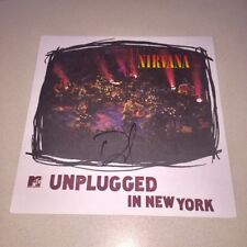 Dave Grohl signed autographed Album Vinyl Nirvana Unplugged In New York Bas Coa