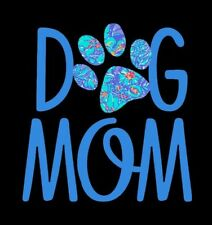 """Dog Mom Decal in Blue  Great for Window/Mirror/Car/Truck- 5"""" x 5"""""""