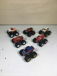 Micro Machines TUFF TRAX Monster Trucks Galoob Lot Vintage Rubber Tire 1990 Logo