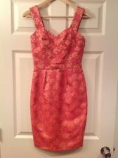 French Connection Pink Checkered Sleeveless Dress, Size 0 (US) 4 (UK)