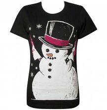 Akumu Ink Frosty The Killer Snow Man Christmas Horror Knife Black Fitted Tshirt