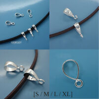 Solid Sterling Silver Smooth Pendant Bail Connector with Open Loop [Choose Size]