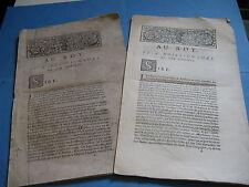 LOUIS DE SACY SUPPLIQUE ROI CONSEILLERS 1701 Corrections Autographes AVOCAT