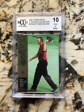 2001 Upper Deck Tiger Woods Collection BCCG Graded 10 Mint Card #TWC16 6th Major