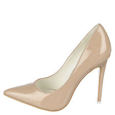 High Heel Pointed Toe 4.5in Stiletto Sexy Women's Nude US 11