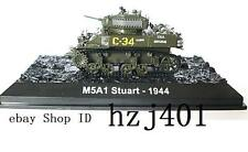 BOXED 1/72 ww2 US Army M5A1 STUART light tank 1944 diecast
