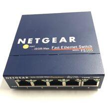 NETGEAR Fast Ethernet Network Switch FS105 V2 5-Port 10/100