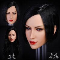 1/6 YMTOYS Ada Wong Beauty Girl Head Sculpt Fit 12'' PH Action Figure