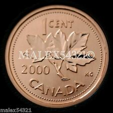 CANADA NICE 2000 1 CENT SPECIMEN FINISH FROM SET