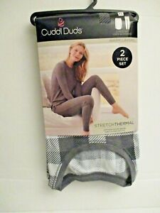 Cuddl Duds women's stretch thermal long sleeve crew top and legging set XL